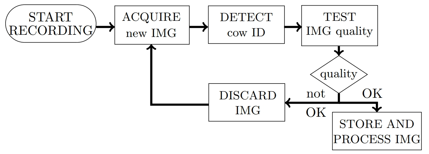 Flowchart illustrating the process of acquiring and testing images